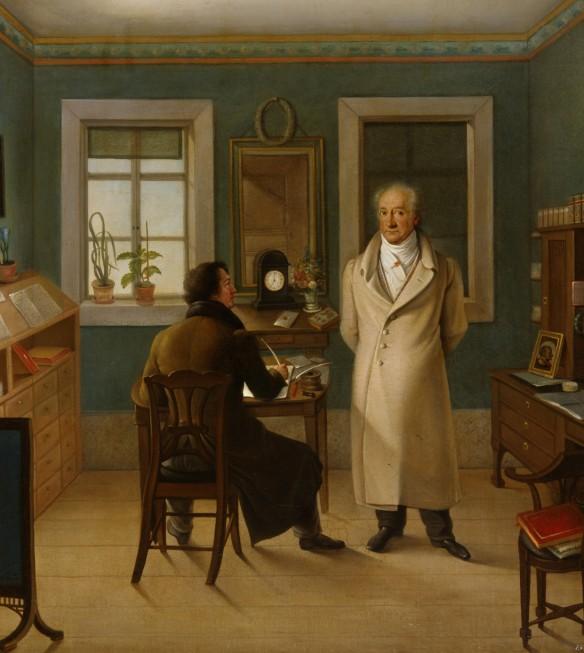 Goethe in seinem Arbeitszimmer