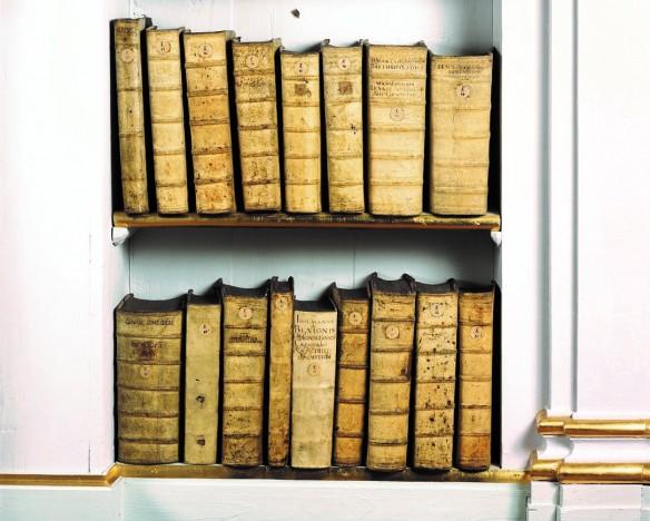Bücher im Rokokosaal der Herzogin Anna Amalia Bibliothek