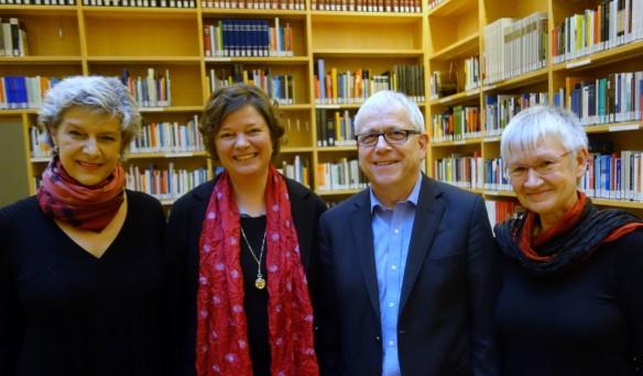 Der aktuelle GAAB-Vorstand mit  (von links) Petra Seelig, Dr. Annette Seemann, Wolfgang Haak, Maria Socolowsky