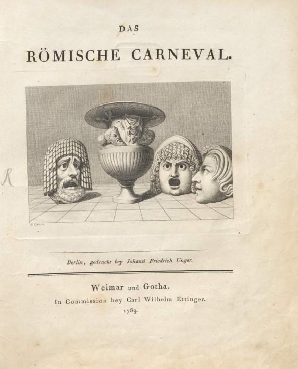Goethe Das römische Carneval 1789