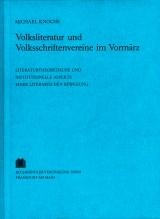 Titel: Volksliteratur und Volksschriftenvereine im Vormärz